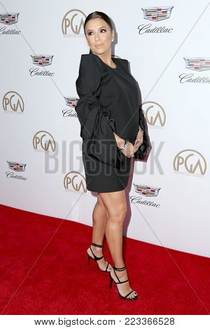 LOS ANGELES - JAN 20:  Eva Longoria at the Producers Guild Awards 2018 at the Beverly Hilton Hotel on January 20, 2018 in Beverly Hills, CA