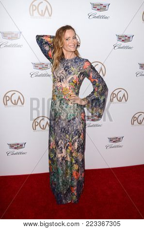 LOS ANGELES - JAN 20:  Leslie Mann at the Producers Guild Awards 2018 at the Beverly Hilton Hotel on January 20, 2018 in Beverly Hills, CA