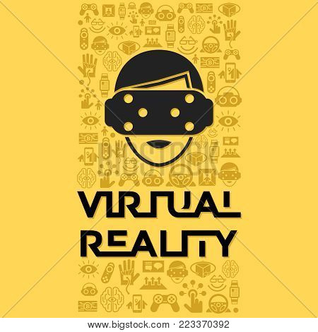 Digital Vector Virtual Augmented Reality Set