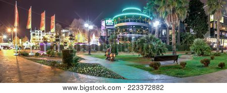 SOCHI, RUSSIA - JANUARY 11, 2018: Landscaping of the city center