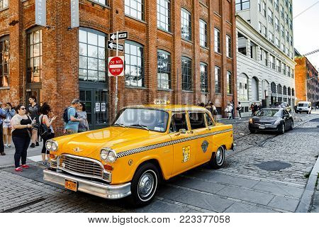 Checker Marathon Taxi Car In Brooklyn