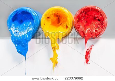 Yellow Blue And Red Colors Are Primary Color.