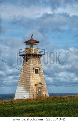 Old Cape Tryon lighthouse in Prince Edward island in Canada