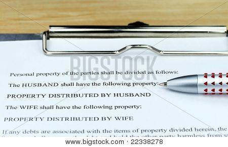 A Divorce Settlement Form