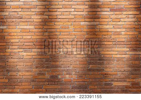 Brick wall texture or brick wall background. brick wall for interior exterior decoration design business and industrial construction concept design. brick wall motifs that occurs natural.