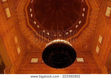 Interior of Niamey Grand mosque, Funded with money from Libyan Government of Gaddafi 21 september 2017 Niamey, Niger