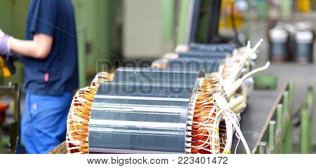 Architecture And Equipment Of A Factory For Mechanical Engineering: Assembly Of Electric Motors