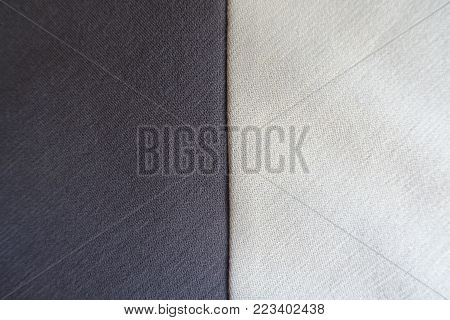 Brown and cream fabrics sewn together vertically
