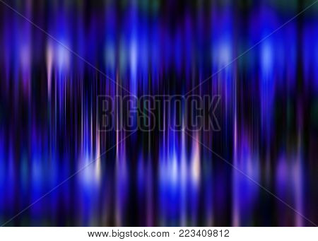 Blue and purple motion blur background with selective focus