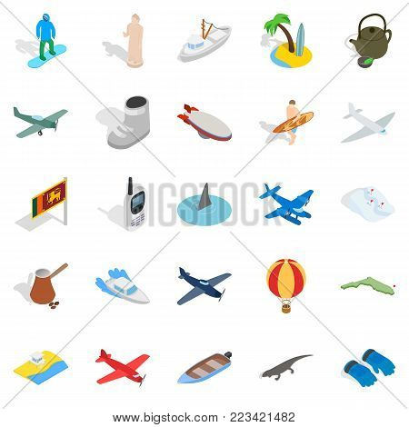 Life experience icons set. Isometric set of 25 life experience vector icons for web isolated on white background