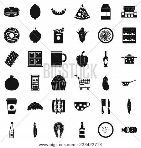 Gala dinner icons set. Simple set of 36 gala dinner vector icons for web isolated on white background