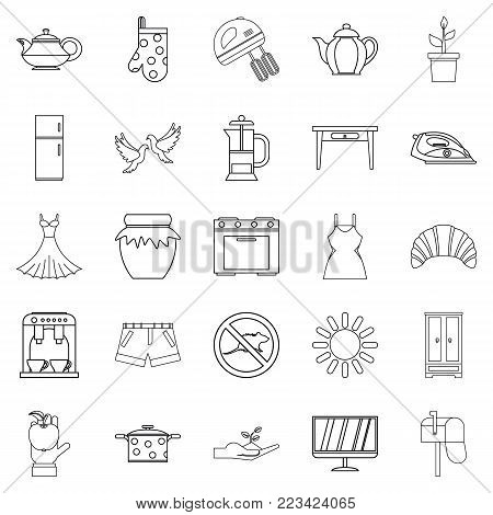 Patriarch icons set. Outline set of 25 patriarch vector icons for web isolated on white background