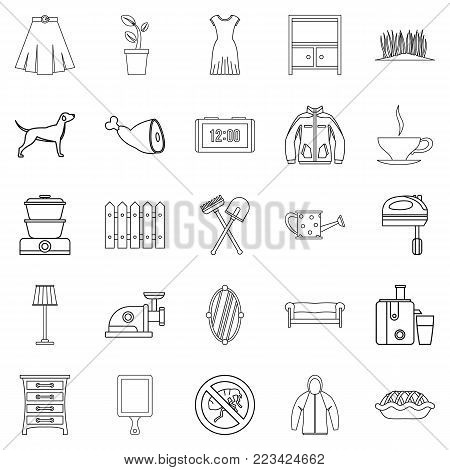 Generation icons set. Outline set of 25 generation vector icons for web isolated on white background