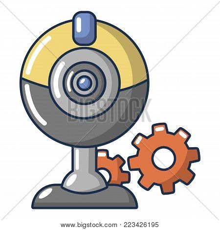 Fan repair icon. Cartoon illustration of fan repair vector icon for web.