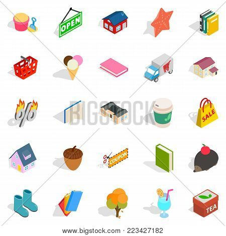 Friendly family icons set. Isometric set of 25 friendly family vector icons for web isolated on white background