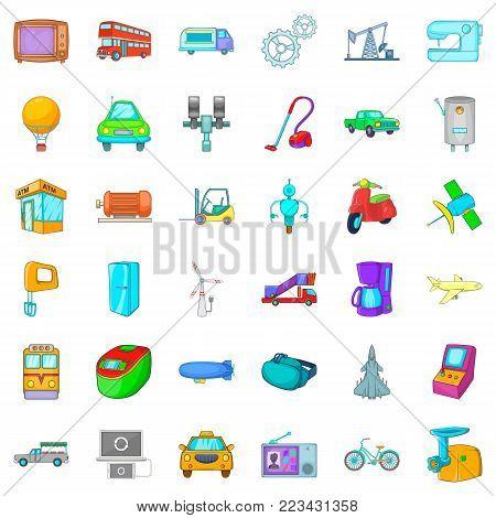 Automatic instrument icons set. Cartoon set of 36 automatic instrument vector icons for web isolated on white background