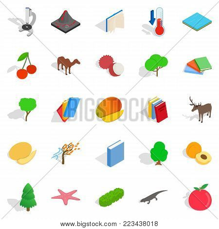 Care of flora icons set. Isometric set of 25 care of flora vector icons for web isolated on white background