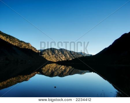 Mountains And Lake In Colorado