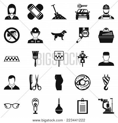 Favorite work icons set. Simple set of 25 favorite work vector icons for web isolated on white background