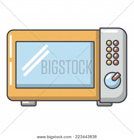 Microwave oven icon. Cartoon illustration of microwave oven vector icon for web.