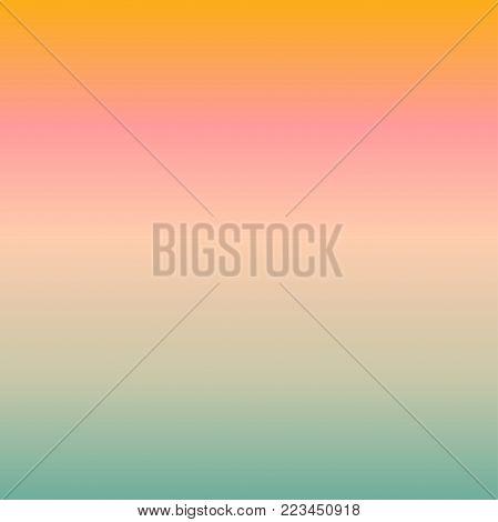Orange pink mint smooth gradient transition background in pastel shades