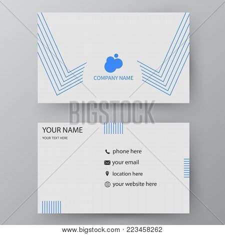 Vector Business Card Template. Visiting Card For Business And Personal Use. Modern Presentation Card