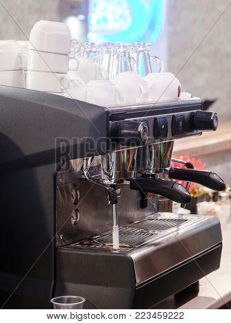Coffe machine close up