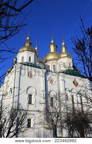 Trinity Church Exaltation of the Cross Monastery. Ukraine, Poltava