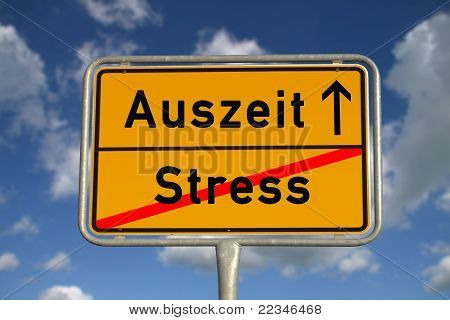 German Road Sign Stress  And Time-out