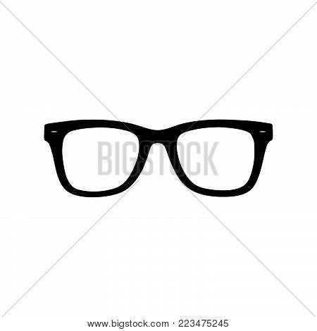 Glasses icon isolated on white background. Glasses icon modern symbol for graphic and web design. Glasses icon simple sign for logo, web, app, UI. Glasses icon flat vector illustration, EPS10.