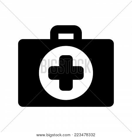 First aid icon isolated on white background. First aid icon modern symbol for graphic and web design. First aid icon simple sign for logo, web, app, UI. First aid icon flat vector illustration, EPS10.