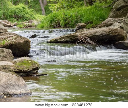 Peacefull flowing stream in a quiet spot.