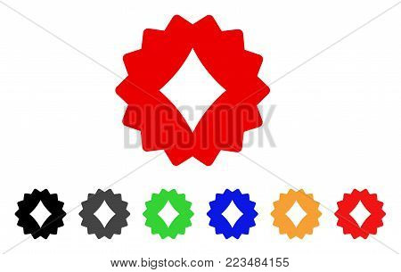 Diamonds Token icon. Vector illustration style is a flat iconic diamonds token symbol with gray, yellow, green, blue, red, black color versions. Designed for web and software interfaces.