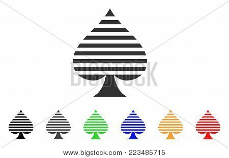 Peaks Suit icon. Vector illustration style is a flat iconic peaks suit symbol with grey, yellow, green, blue, red, black color versions. Designed for web and software interfaces.