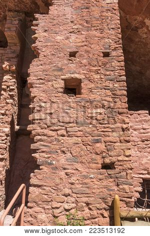 Manitou Springs, CO/USA - Circa September 2016: Duplex living quarters at the Manitou Cliff Dwellings in Manitou Springs, Colorado.