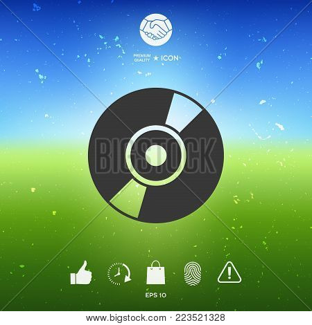 CD, DVD symbol icon. Element for your design