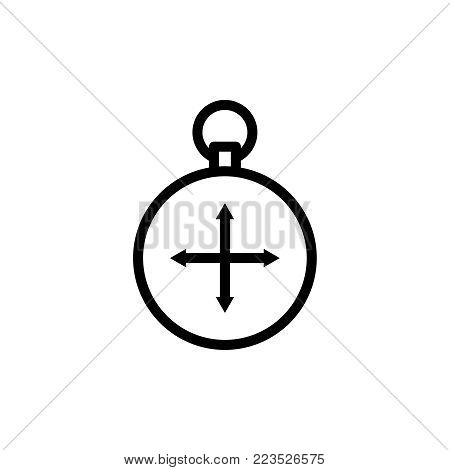 Compass flat icon. Single high quality outline symbol of info for web design or mobile app. Thin line signs for design logo, visit card, etc. Outline logo of compass.