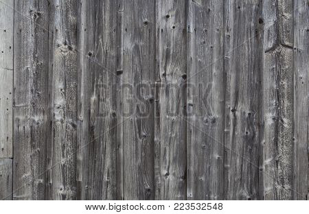 Close-up shot of old dirty wooden planks