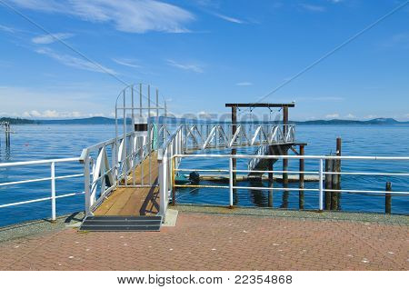 Resting Sea Gulls On Private Dock