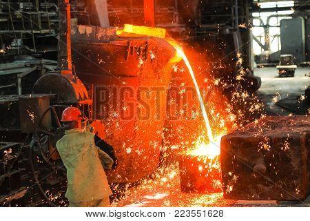 workshop foundry metal smelting plant  manufacture danger