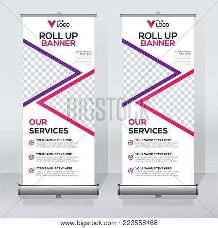 Roll Up Banner Template A