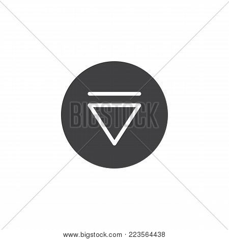 Eject media player button icon vector, filled flat sign, solid pictogram isolated on white. Symbol, logo illustration.