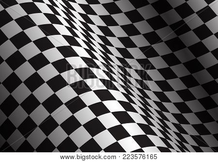 Checkered flag wave design sport race championship background vector illustration.