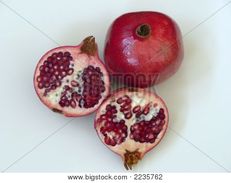 A Group Of Pomegranates