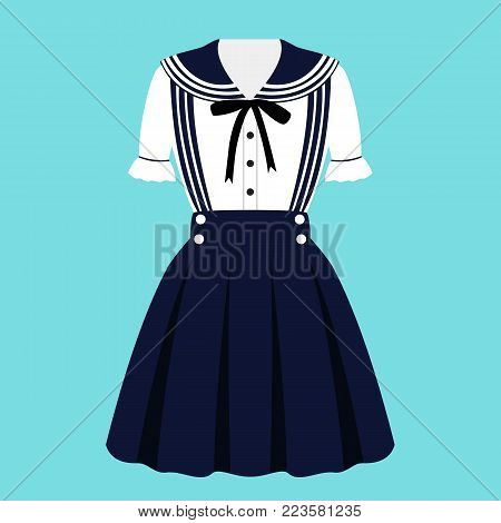Clothing. Dress In Japanese Style.