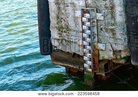 line to control the level of water in the reservoir, measuring and monitoring the water level in the river