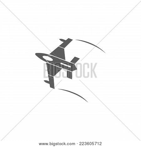 aircraft icon. Elements of a controlled aircraft icon. Premium quality graphic design. Signs, outline symbols collection icon for websites, web design, mobile app on white background