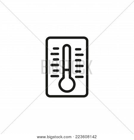 Icon of thermometer. Tool, device, equipment. Measurement concept. Can be used for topics like meteorology, medicine, weather.