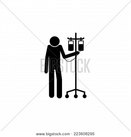 patient with a capillary icon. Elements of Patients in the hospital icon. Premium quality graphic design. Signs, outline symbols collection icon for websites, web design, mobile on white background