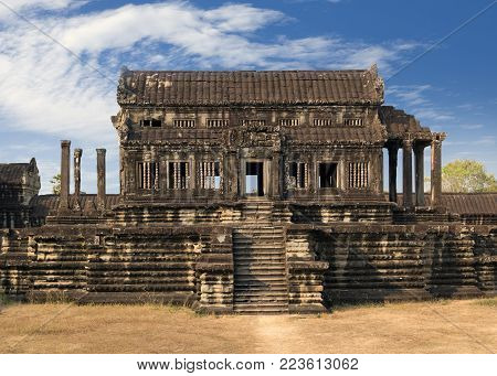 Angkor Wat Temple, Siem reap, Cambodia in sunny day